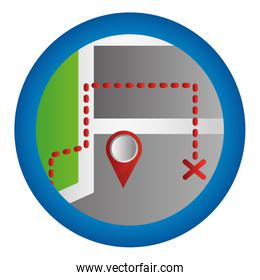 gps navigation find route mobile button app