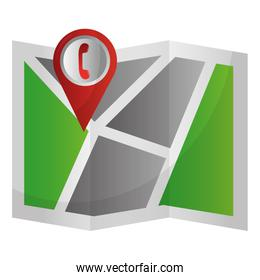 gps navigation folded map pointer with star