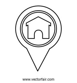 pin pointer location with house