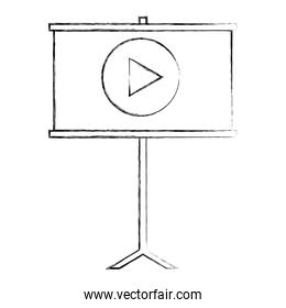 presentation board with video player
