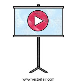 paperboard training with play button