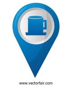 coffee cup shop pointer gps navigation location image