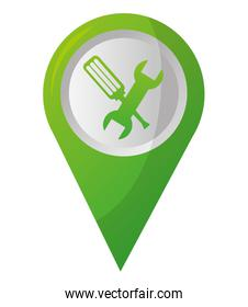 map pointer navigation with mechanic support tools