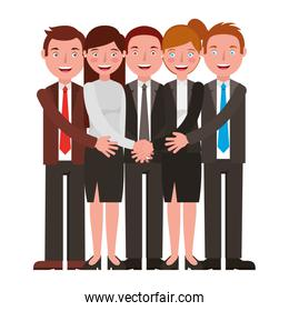 group business people isolated icon