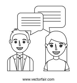 couple with speech bubbles