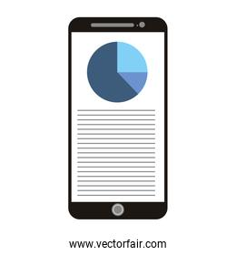 smartphone with document report chart diagram