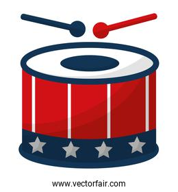 drum instrument with usa flag