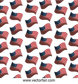 USA flags pattern background