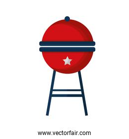 barbeque grill with USA colors