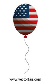 balloons air helium with USA flag