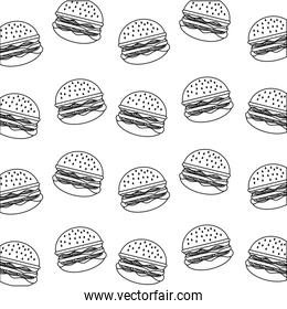 delicious fast food hamburger background