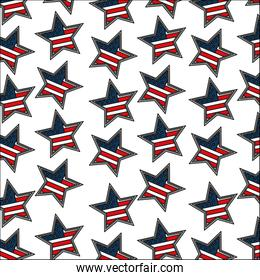 american flag in star decoration pattern