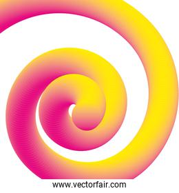 fluid gradient spiral abstract neon