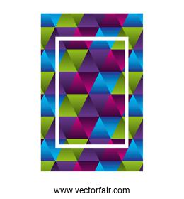 geometric figures and colors workart frame