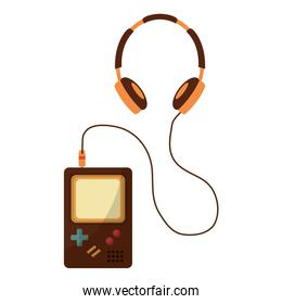 game pad with headset retro style