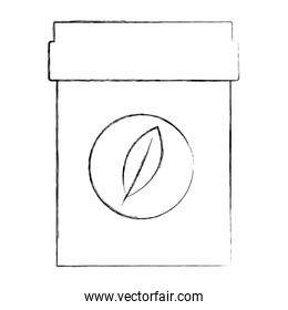 plastic container tea bag herbal product