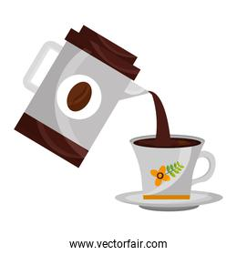 coffee maker pouring in cup