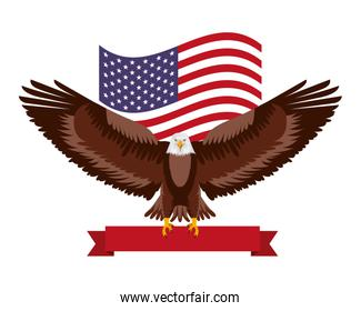 american eagle flag national symbol