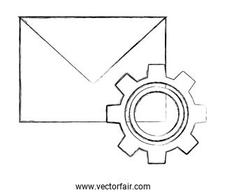 email message envelope and gear