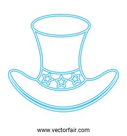 top hat stars accessory in neon style