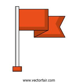 flag in pole isolated icon