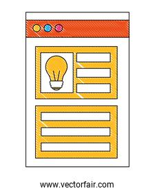 bulb idea website page information business report