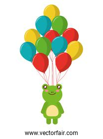 balloons helium with cute frog