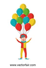 balloons helium with cute clown
