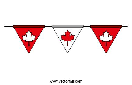 pennant decoration canada day flag