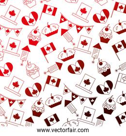 canada day celebration cake fireworks flag heart background