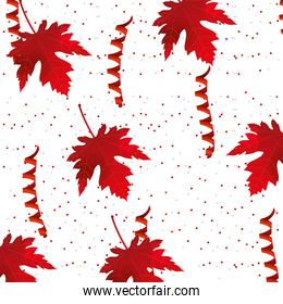 canada day maple leaf confetti celebration pattern