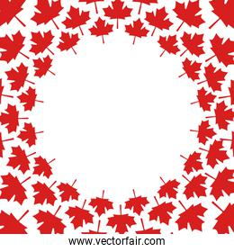 red maple leaf background round decoration