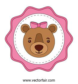 lace female bear grizzly icon