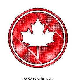canada day celebration canadian flag in button