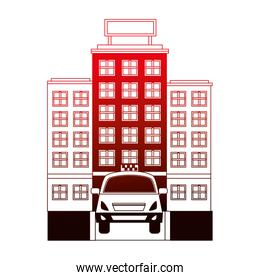 building hotel taxi service transport