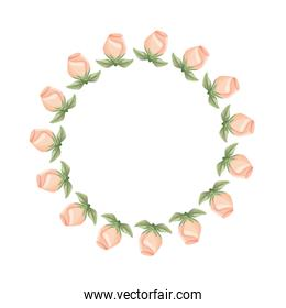wreath flowers roses leaves floral decoration ornate