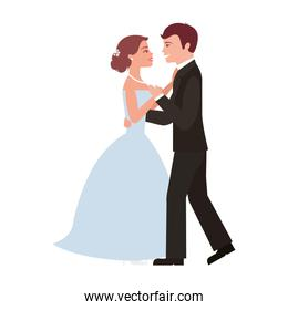 married couple dancing avatar character