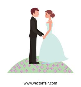 married couple in garden avatar character