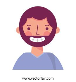 portrait smiling man character avatar