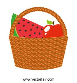 basket with fruits icons