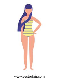 woman with swimsuit character