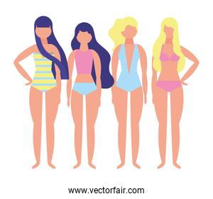 women with swimsuit character