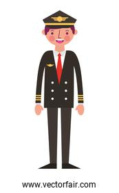 commercial airplane pilot in uniform