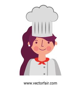 chef woman female character with hat