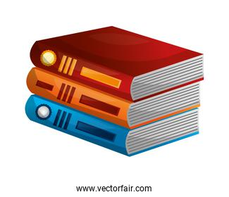library pile books icon