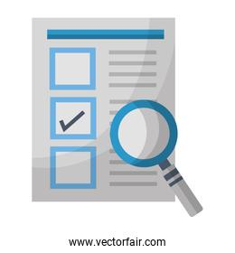 document check mark magnifying glass