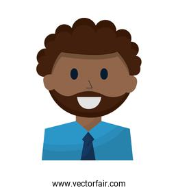 isolated business man employee portrait character