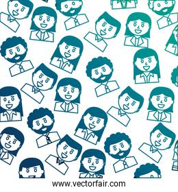 business people portrait character pattern