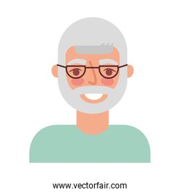 cute grandfather avatar character