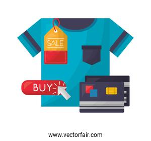 shirt bank credit cards price tag sale buy online